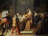 Raffaello Sorbi - Piccarda Donati fatta rapire dal convento di Santa Chiara dal fratello Corso.jpg