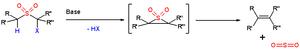 Ramberg–Bäcklund reaction - Scheme 1. The Ramberg–Bäcklund reaction