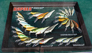 Fishing lures manufactured by Rapala, Finland.