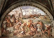 The battle at Ostia in 849 ended the third Arab attack on Rome.