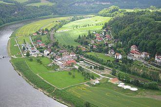 Rathen - district Oberrathen - view from Bastei