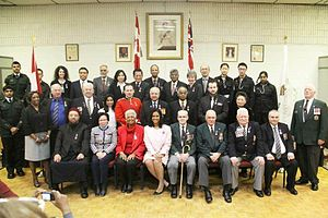 Queen Elizabeth II Diamond Jubilee Medal - Recipients of the Queen Elizabeth II Diamond Jubilee Medal at Royal Canadian Legion Branch 258, Toronto, Ontario, 24 February 2013