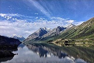 Rakwa Tso Lake in the Tibet Autonomous Region, China