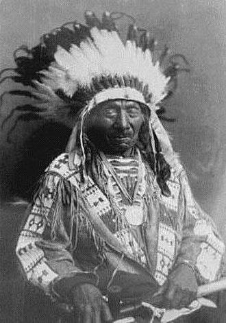 Grattan massacre - Red Cloud, late life photo.