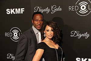 Willie Gault - Gault with wife Suzan Brittan at the Inaugural Dignity Gala on October 18, 2013