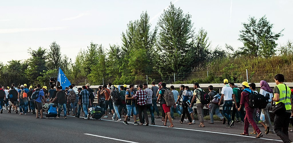 Refugee march Hungary 2015-09-04 02 B