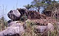 Remains of a stone-walled house at the deserted hilltop defensive site of Yagala, Sierra Leone (West Africa) (402034846).jpg