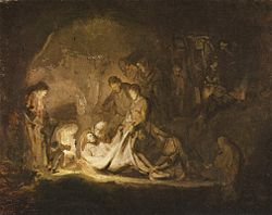 Rembrandt: The Entombment of Christ