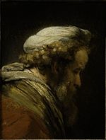 Rembrandt Lighting Study of an Old Man in Profile.jpg