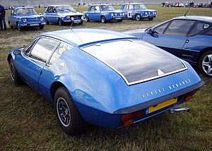 Alpine A310 - Rear view of an early, four-cylinder A310