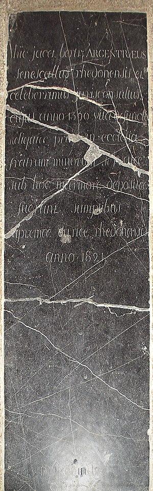 Bertrand d'Argentré - Tomb