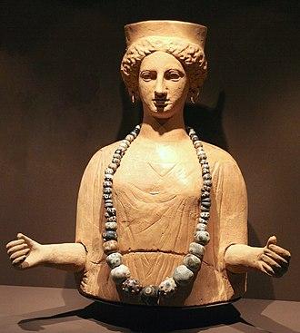 Religion in Carthage - Image: Representació guarnida de la deessa Tànit