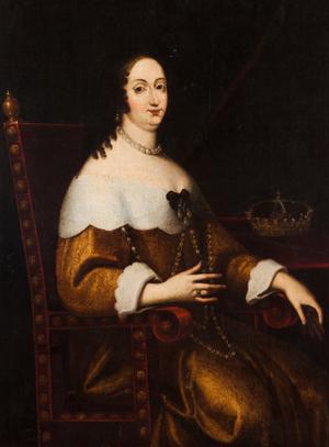 Luisa de Guzmán - Portrait of D. Luísa de Gusmão; Peninsular School, 17th century.