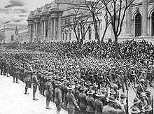 Défilé du 28 avril 1919 du 69 e Régiment pour son retour à New