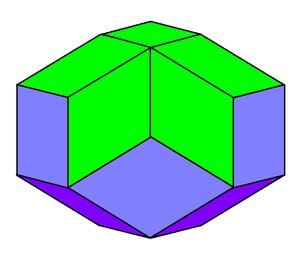 Icosahedron - Rhombic icosahedron
