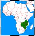 Rhynchogale melleri range map.png