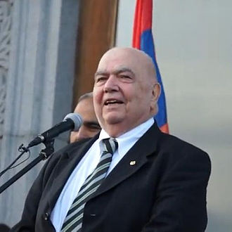 Richard G. Hovannisian - Hovannisian during the anti-government protests in Yerevan's Freedom Square in March 2013