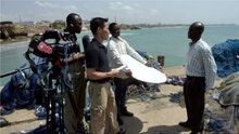 Lui reporting for CNN on human trafficking in Ghana. March, 2010.