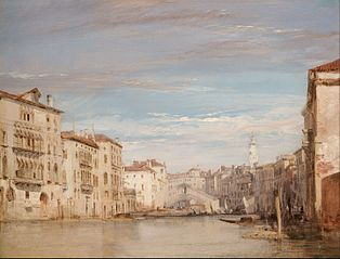 The Grand Canal, Venice, Looking Toward the Rialto