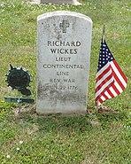 Richard Wickes Gravestone