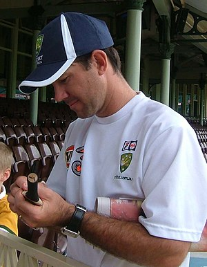 Ricky Ponting - Ponting signing autographs in Sydney, 2005, before he scored his fourth career double century.