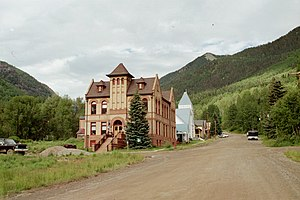 Rico, Colorado - Rico Town Hall, listed on the National Register of Historic Places