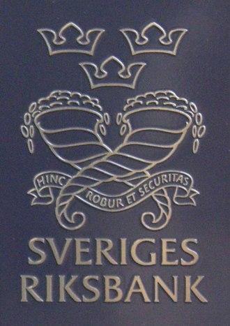 Sveriges Riksbank - Image: Riksbanken skylt