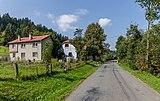 Road III-4875 and houses in Kychová(Huslenky), Vsetín District, Zlín Region, Czech Republic 22.jpg