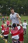 Rob Gronkowski football camp a 'touchdown' with youth at JBA 150702-F-CX842-542.jpg