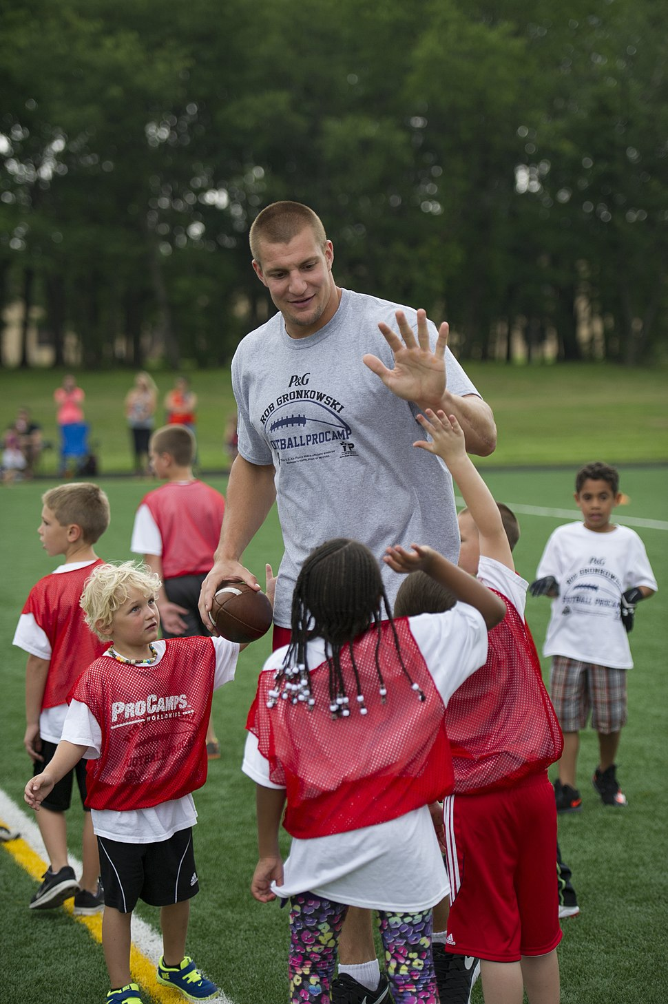 Rob Gronkowski football camp a 'touchdown' with youth at JBA 150702-F-CX842-542