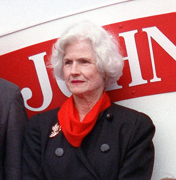 Roberta McCain at the 1992 launching of USS John S. McCain (DDG-56)