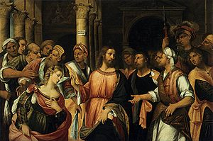 Rocco Marconi - Rocco Marconi, Christ and the Adulteress, c. 1525, Oil on canvas, 131 x 197 cm, Gallerie dell'Accademia, Venice