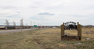 Rock River, Wyoming - Entering Rock River from the West on U.S. Route 30.