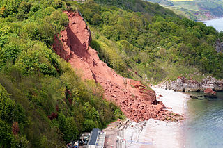 type of landslide caused by rock failure