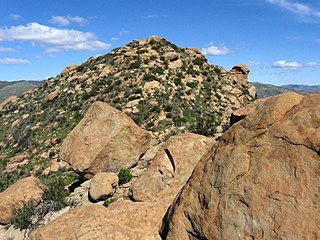 Rocky Peak Mountain in southern California, United States