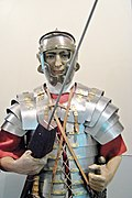 Roman military clothes National Military Museum Bucharest Romania.jpg