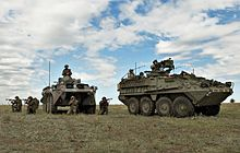 BABADAG TRAINING AREA, Romania - U.S. Soldiers of the 2nd Stryker Cavalry Regiment and Romanian forces of the 33rd Mountain Troop Battalion, Posada train together during the 2009 JTF-East rotation at the Babadag Training Area, Romania.