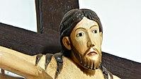 Romanisches Holzkreuz (ca.970 n.Chr), Jesus Plastik, Hl. Kreuz Schaftlach.jpg