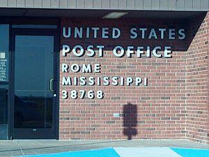 Rome, Mississippi - Image: Romepostoffice