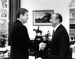Thurmond with President Ronald Reagan