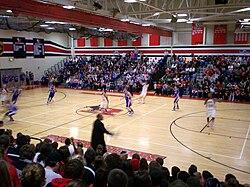 dcb066532376 January 2010 boys basketball game against the Ravenna Ravens. Roosevelt s  ...