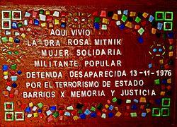 Rosa mitnik desaparecida argentina