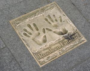 Rosaleen Linehan - Rosaleen Linehan handprints (Gaiety Theatre, Dublin)