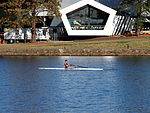 Rower in front of the National Museum of Australia January 2013.jpg