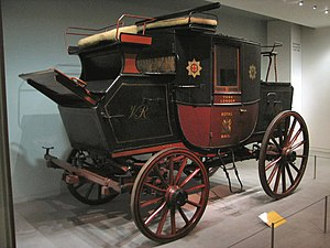 Mail coach - Royal Mail coach preserved in the Science Museum, London