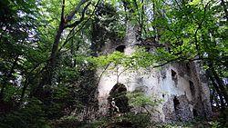 Ruševina gradu Čretež I. (Reitenburg), Dolenje Laknice.JPG