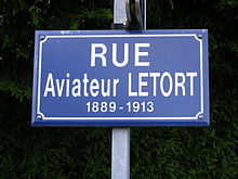 Description de l'image  Rue de l'aviateur LETORT.JPG.