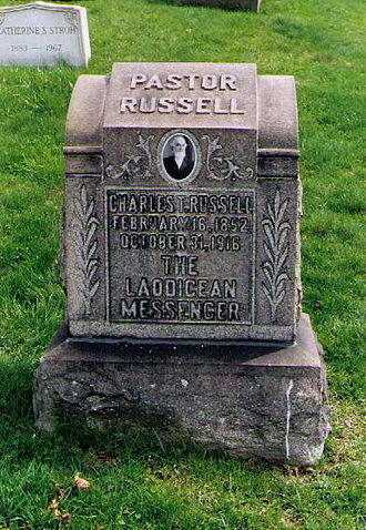 History of Jehovah's Witnesses - Russell's tombstone in Pittsburgh, Pennsylvania