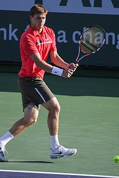 Harrison en el Masters de Indian Wells 2012.