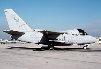 VS-35's C.A.G. S-3A Viking as part of CVW-10 in 1986. VS-35 would be reestablished again in 1990.
